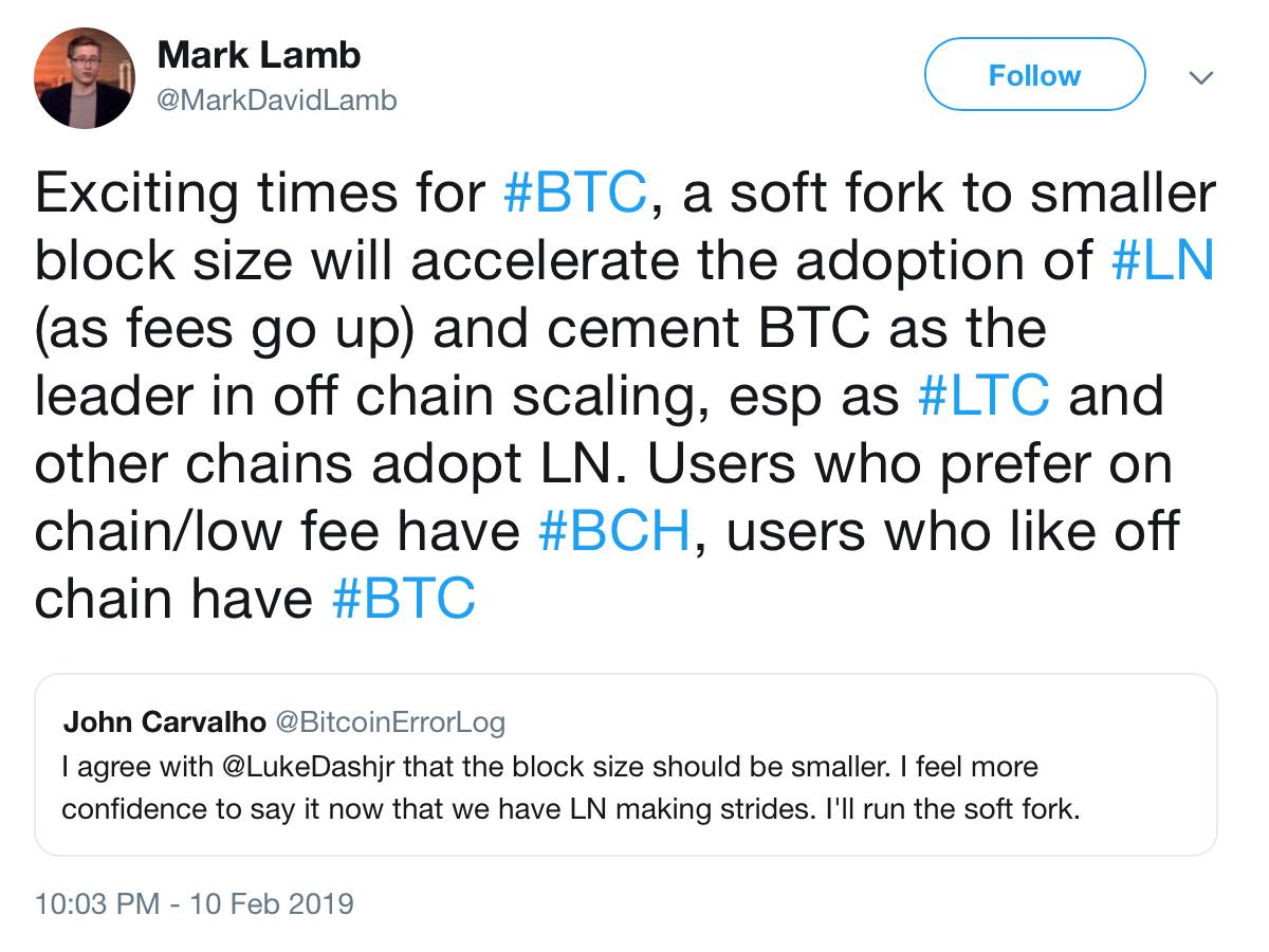 Core Developer's 300kb Block Proposal Bolstered in Bid to Push Lightning Adoption
